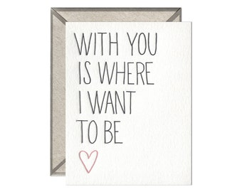 With You letterpress card