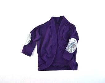 baby and toddler cardigan, purple cardigan, fall cardigan, plum cardi, girls cardigan, baby cardigan