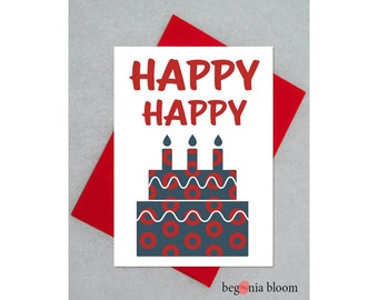 Phish Birthday Card - Phish Happy Happy Card - Phish Donut Birthday Card - Phish Birthday Cake
