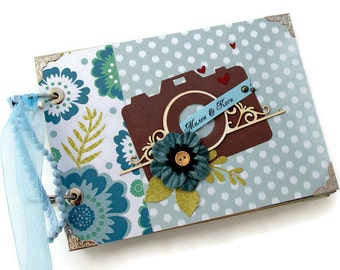 Family Travel Album - Adventure Album - Travel Memory Book - Explore Travelogue - Travel Gift Women - Travel Scrapbook - Adventure Book