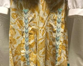 Floral Print Mustard Skirt