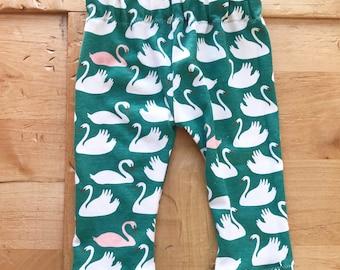 Swan Valley Pants, Leggings, Baby Girl, Fairy Tale, Gift, Green, Pink, Newborn