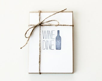 Wine & Dine Note Cards (Set of 5)