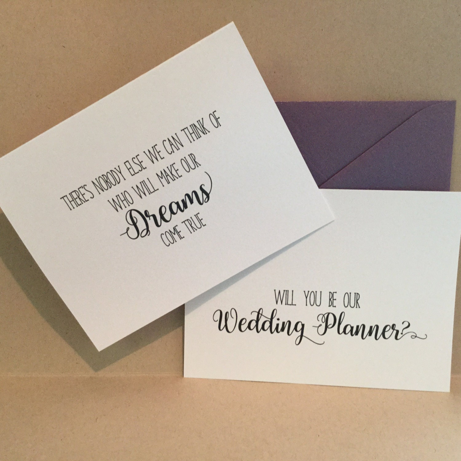 Will You Be My Wedding Planner Coordinator Card Cards Proposal