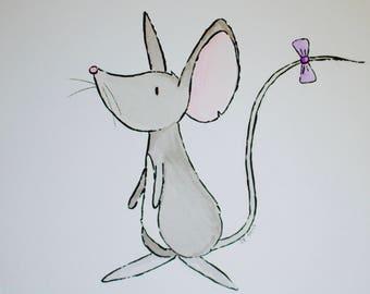 Little Wild Mouse Print