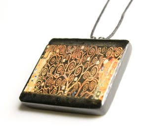 Tree of Life by Gustav Klimt Pendant