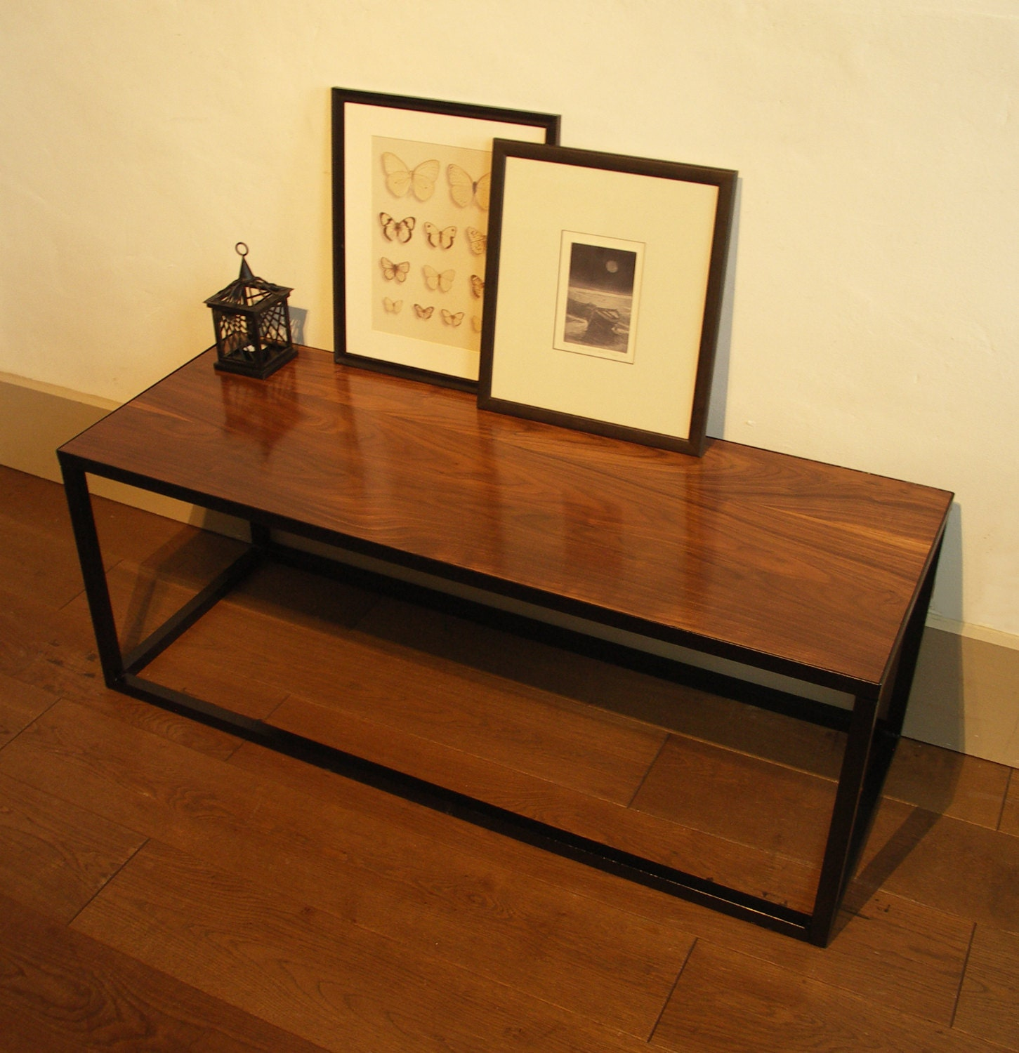 Buy Walnut And Black Metal Square Coffee Table From Fusion: American Black Walnut Coffee Table