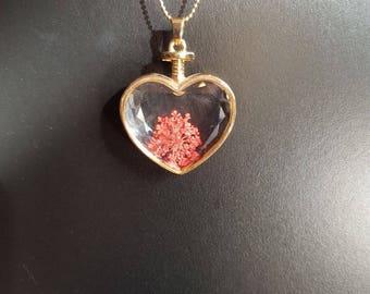 heart shape perfume pendant