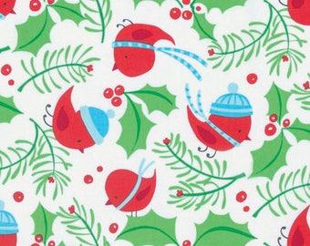 Merry Christmas Fabric - Jolly Holly - Merry- By David Walker From Free Spirit FREESPIRIT FABRICS