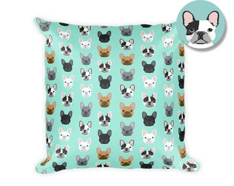 "French Bulldog Square Pillow - 18""x18"""