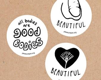 Body Love Stickers - Set of 3