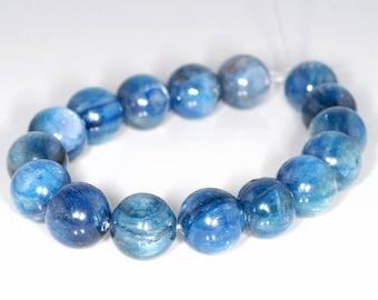 12mm Blue Kyanite Gemstone Blue Round Loose Beads 8 inch Half Strand 17 Beads (90147985-346)