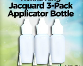 Jacquard Applicator Bottles 3 Pack with .5, .7, and .9 mm Metal Tips
