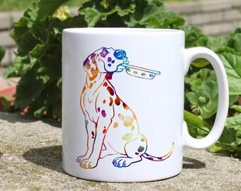Dalmatian mug - dog mug - Colorful printed mug - Tee mug - Coffee Mug - Gift Idea