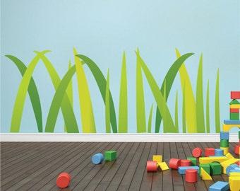 Grass Wall Decal, Grass Wall Art Sticker, Peel and Stick Grass, Grass Wall Mural, Kids' Room Grass, Grass Wall Decor, Grass Wallpaper, d22