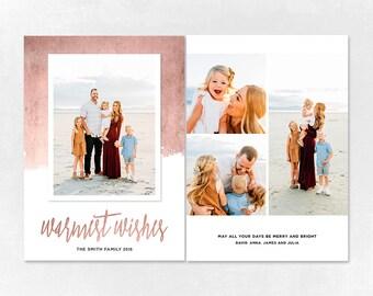 Digital Photoshop Christmas Card Template for photographers PSD Flat card - Christmas Card - PSD Template - 026