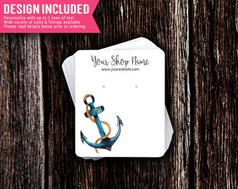 Earring Cards | Jewelry Cards | Necklace Cards | Jewelry Display Cards | Earring Holder | Jewelry Display | Anchor | Design Included