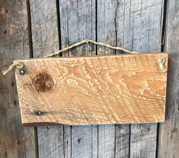 Blank Wood Plank - Rustic Barnwood Art - Primitive Wall Decor - DIY ...