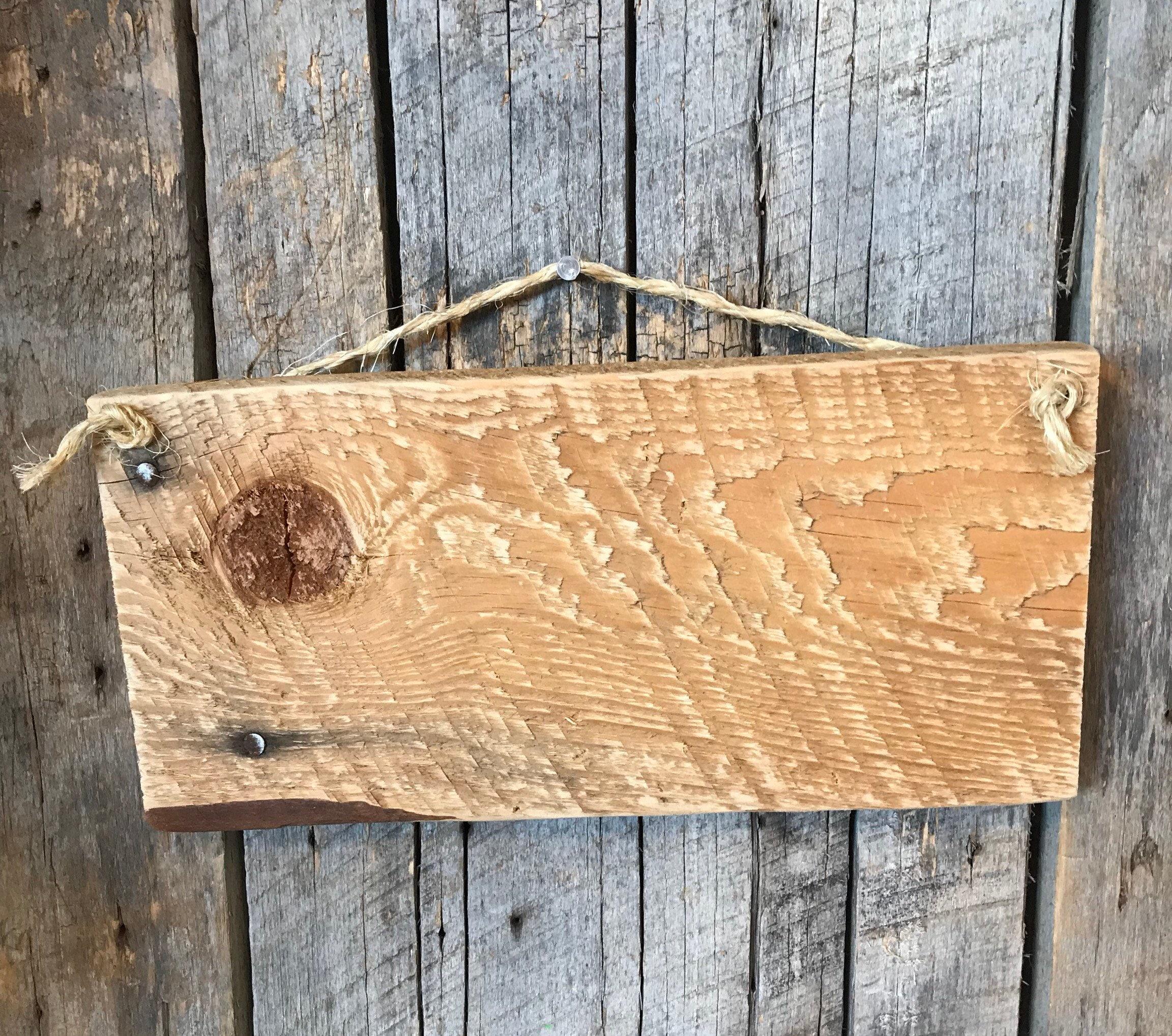 Blank Wood Plank - Rustic Barnwood Art - Primitive Wall Decor - DIY ...