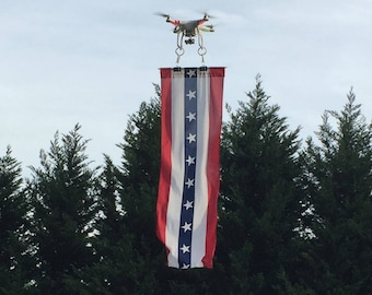 Dronematic Red,White & Blue Drone Banner