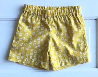 Size 2 boys shorts- baby boys shorts- cotton shorts- baby boys clothing -summer shorts