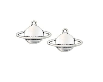 Set of 3 charms planet space Galaxy solar Star Silver (B07)