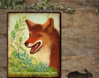 Red Fox Hand - stretched Gallery Wrapped Canvas.