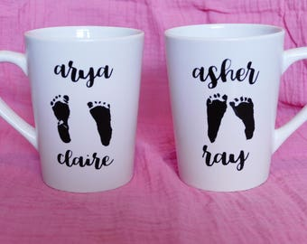 Custom Baby Footprint Mug