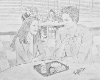 "Lost Twilight Scene - ""Interrogations"" Fine Art Print Pencil Drawing"