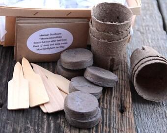 Garden Gift Basket, Butterfly Garden Kit, Heirloom Seeds for Butterflies, Gift for Her, Green Thumb Gift, Gift Under 25, DIY Plant Kit