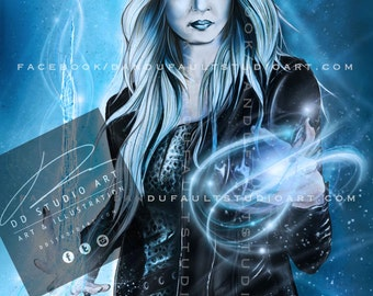 """DC and CW's 'Killer Frost' 11x17"""" Artist Signed Print"""