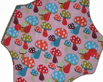 Liner Core- Polka Dot Shrooms Reusable Cloth Mini Pad- WindPro 7.5 Inches (19 cm)