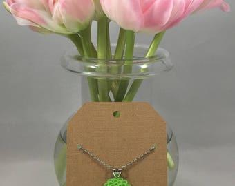 Chrysanthemum Necklace Grassy Green