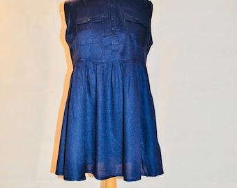 Blooming Marvellous Summer Blouse Navy Sleevless Maternity Wear