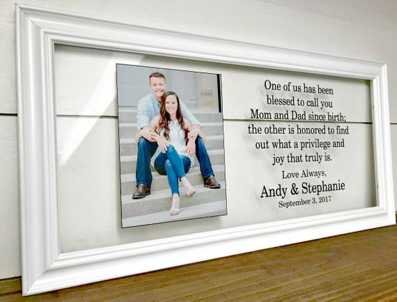 Parents Wedding Frame Mother of the Groom Gift Wedding Gifts