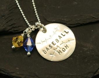 Sterling Silver Baseball Mom (Grandma) Necklace