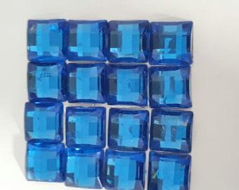 SET of 16 RHINESTONE CABOCHON DECORATION SCRAPBOOKING 10 x 10 MM