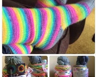 Self Striping Sock Yarn Unicorn hole