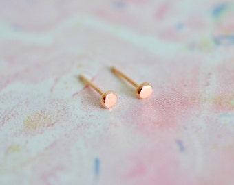 9ct Rose Gold Pebble Stud Earrings