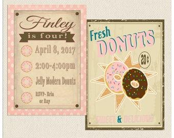 Donut Invitation