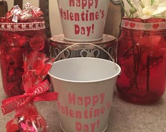 Valentines for Class-Teacher Valentine-School Valentines-Valentines for Classmates-mini pail- Valentine's Day-cute valentines
