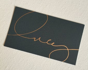 1500 Custom Gold Foil Business Cards