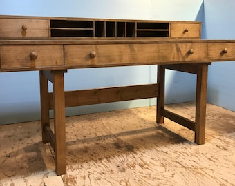 Convertible Desk in maple with a walnut stain