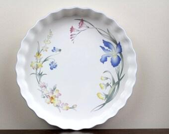 Villeroy & Boch Porcelain Quiche Tart Pan Vilbofour Riviera 17.7