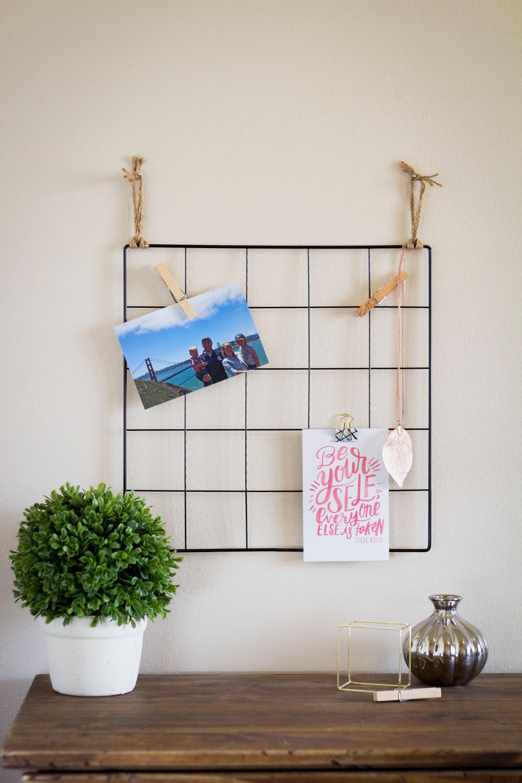 Wire Wall Grid Photo Display Dorm Decor Grid Memo Board