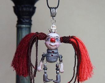 Boho jewelry tassel necklace - Long tassel necklace - Bohemian necklace - Art doll necklace - Beaded necklace - Girls boho necklace