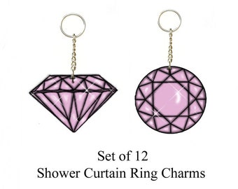 Diamonds.... Bling Charm Ornaments...Set of 12.