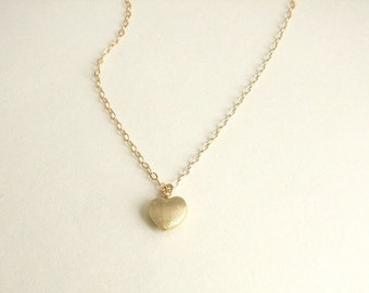 Heart Necklace, Gold Heart Necklace, Dainty Gold Necklace, Delicate Heart Necklace, Dainty Gold Necklace, Gold Heart, 14K Gold Filled Chain