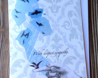 Sympathy card. Consolation Card. With deepest Sympathy. I'm sorry for your loss card.