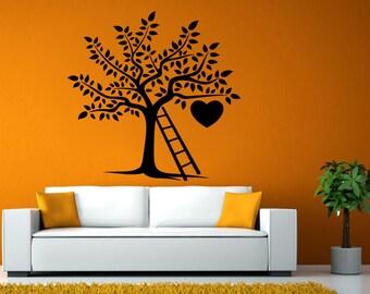 Heart Love Tree Latter Fruit Nature Room Wall Sticker Decal Vinyl Mural Decor Art L2435